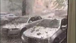 Мощна буря удари Румъния, движи се към нас (Видео)