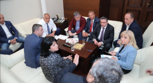 Бойко Борисов и превозвачите на среща за тол система