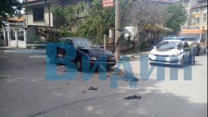 Лек автомобил и Джип се помляха на метри от студиото на Видин Вест (снимки)
