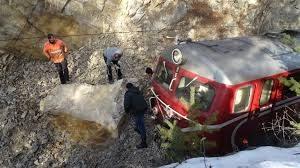 Влак се удари в скали в Пловдивско