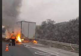 Забравен газов котлон подпали турски тир във Видин