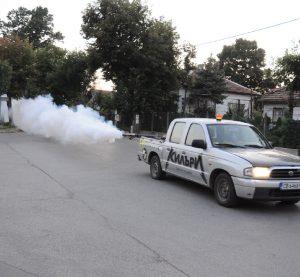 Извънредно пръскане срещу комари, по-време на видинския панаир