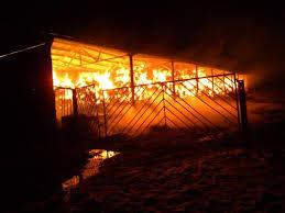 Избухнал пожар в сеновал, нанесе огромни поражения