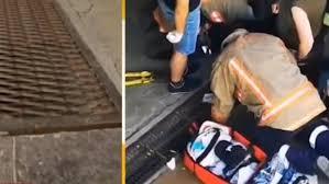 Жена падна в шахта на подлез (Видео)