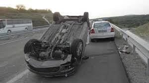 Подпиинал врачанин се преобърна с автомобила си
