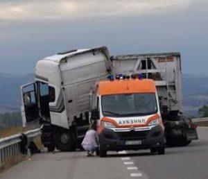 Тираджии катастрофираха на Е-79  в посока Дунав мост 2, край Видин