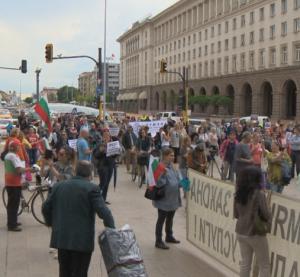 МВР показа снощния протест в София (Видео)