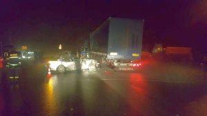 Тежка катастрофа между бус и Тир край Видин, има ранен