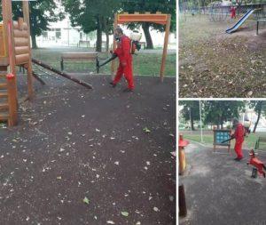 Детските площадки във Видин бяха обработени отново срещу кърлежи и бълхи