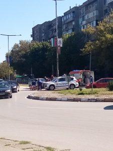 Автомобил блъсна пешеходец във Видин(Снимки)