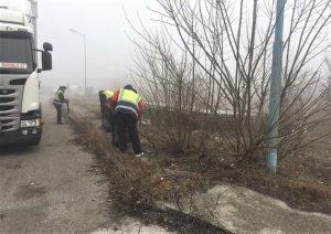 Акция за почистване на крайпътни участъци в Северна промишлена зона във Видин