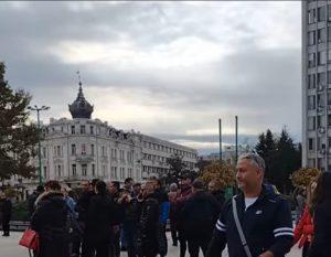 Във Видин протестираха срещу зеления сертификат